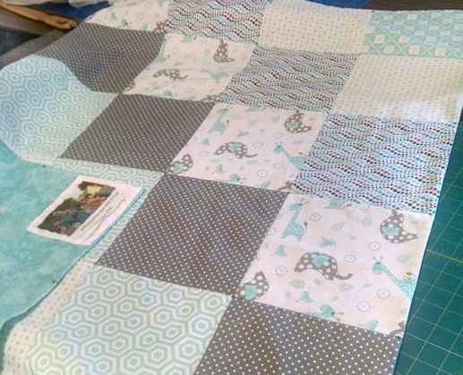 Alice's Baby Quilt. Waverly and other fabrics from Walmart.