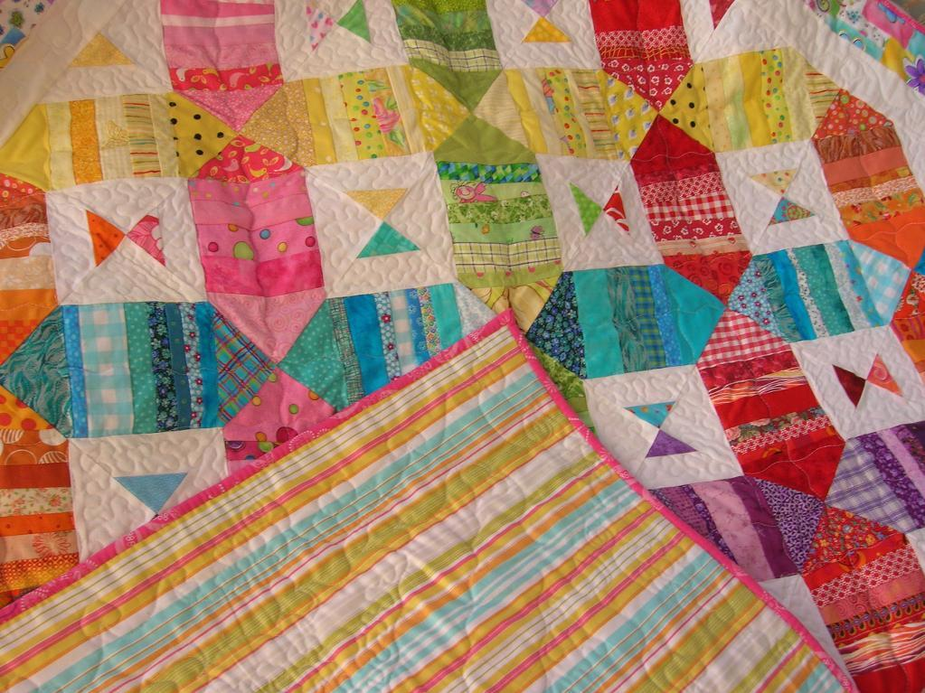 Rainbow Flutterbye Scrap Quilt.